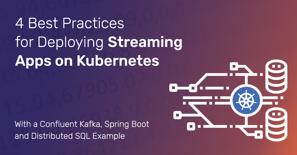 Best Practices for Deploying Confluent Kafka, Spring Boot